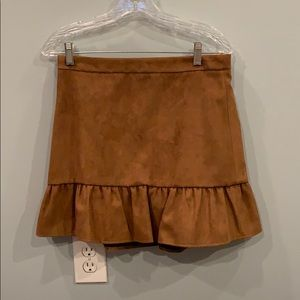 NWT- faux suede jcrew factory skirt!
